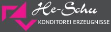 He-Schu Konditorei Erzeugnisse Logo