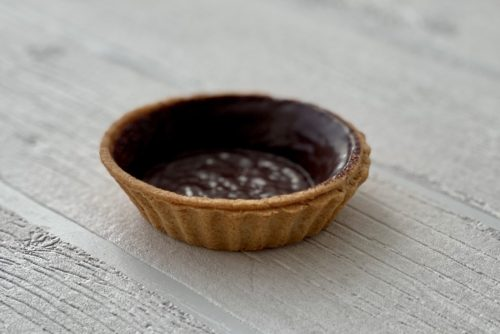 Dinkel-Vollkorn-Tartelette-Kakaoglasur